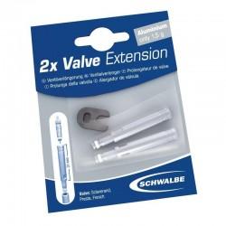 EXTENSION VALVULA SCHWALBE 30 MM 2 PIEZAS C/ROSCA