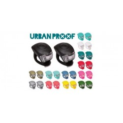 PACK LUCES URBAN PROOF DEL   TRAS SILICONA NEGRO